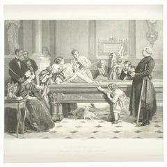 Billiard Room Print after Hildemaker
