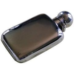 Silver Hallmarked Hip or Pocket Flask, 1896