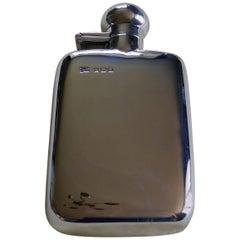 Slim Silver Hallmarked Hip Flask, Robert Pringle & Sons