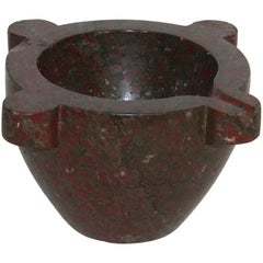 19th Century French Red Marble Mortar