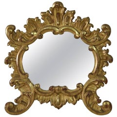 Small 19th Century Italian Giltwood Baroque Style Mirror