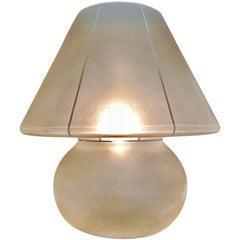 Vetri Mid-century murano Table lamp glass, 1970s
