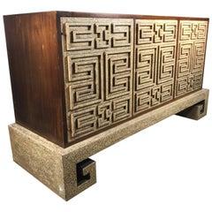 Stunning Asian Modernist Server, Credenza Manner of James Mont