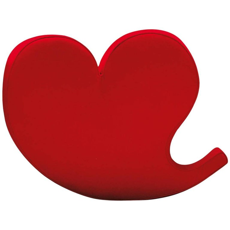 Soft Heart Armchair by Ron Arad in Felt or Wool Fabric for Moroso