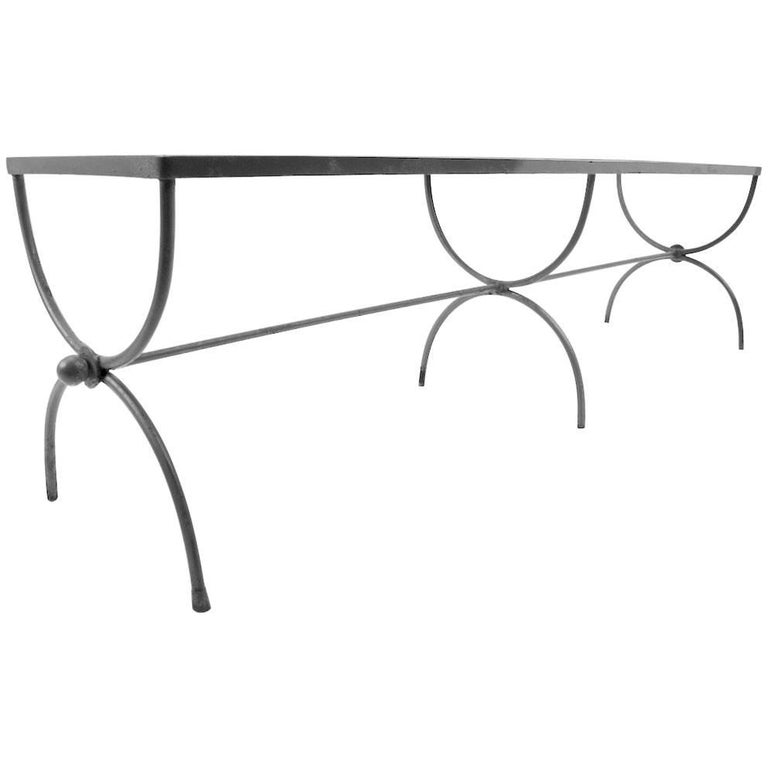 Iron Garden Bench by Woodard For Sale