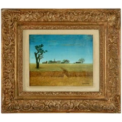 Painting by J. Faseau of the French Countryside
