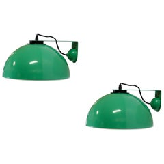 Pair of Midcentury Wall Lights in Aluminum by Dalca, 1970s
