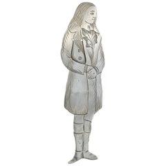 Edwardian Novelty Silver Figural Bookmark Charles Dickens 'Sydney Carton'