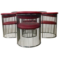 Chrome Wire Dining Set Designed by Arthur Umanoff for Contemporary Shells Inc
