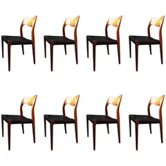 Arne Hovmand Olsen Model 71 Chairs, Set of Eight