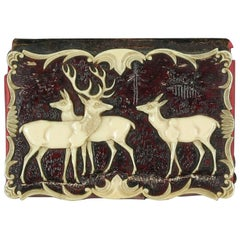 Carved Horn Victorian Notebook, circa 1860