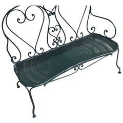 Early 20th French Iron Garden Bench