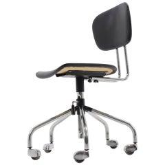 Chrome Wheel Office Chair