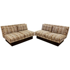 Mid-Century Modern Baughman for Thayer Coggin Two-Piece Sectional Sofa