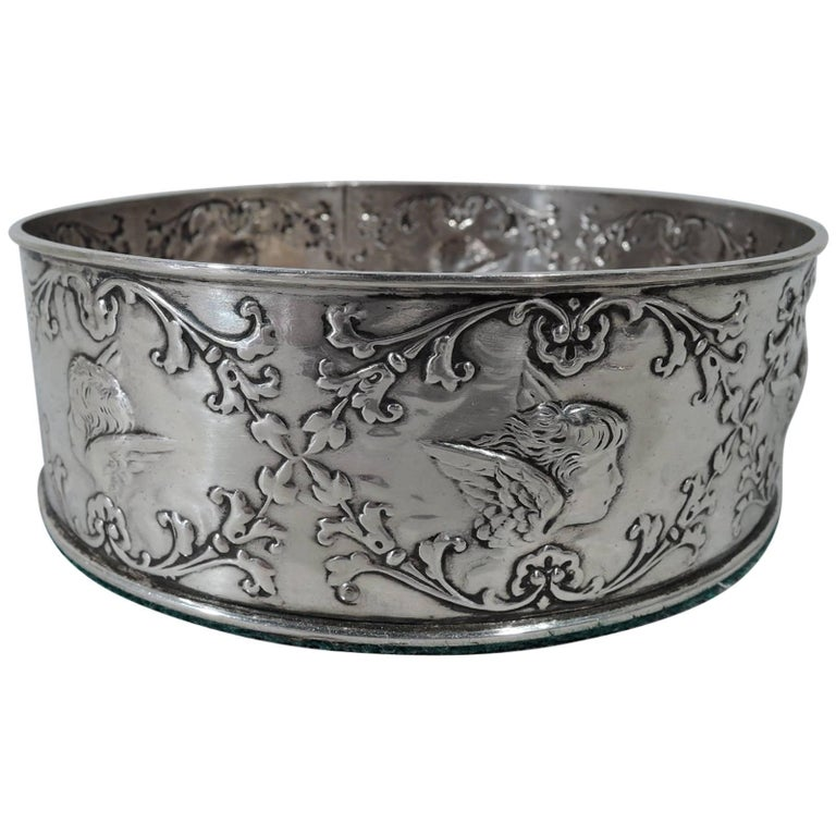 English Edwardian Sterling Silver Wine Coaster by William Comyns