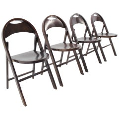 Four of Bauhaus Thonet Folding Chairs, B 751