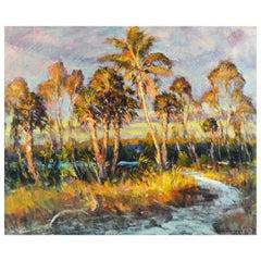 'Hurricane Pass' Original Florida Oil Painting by Robert C. Gruppe, American
