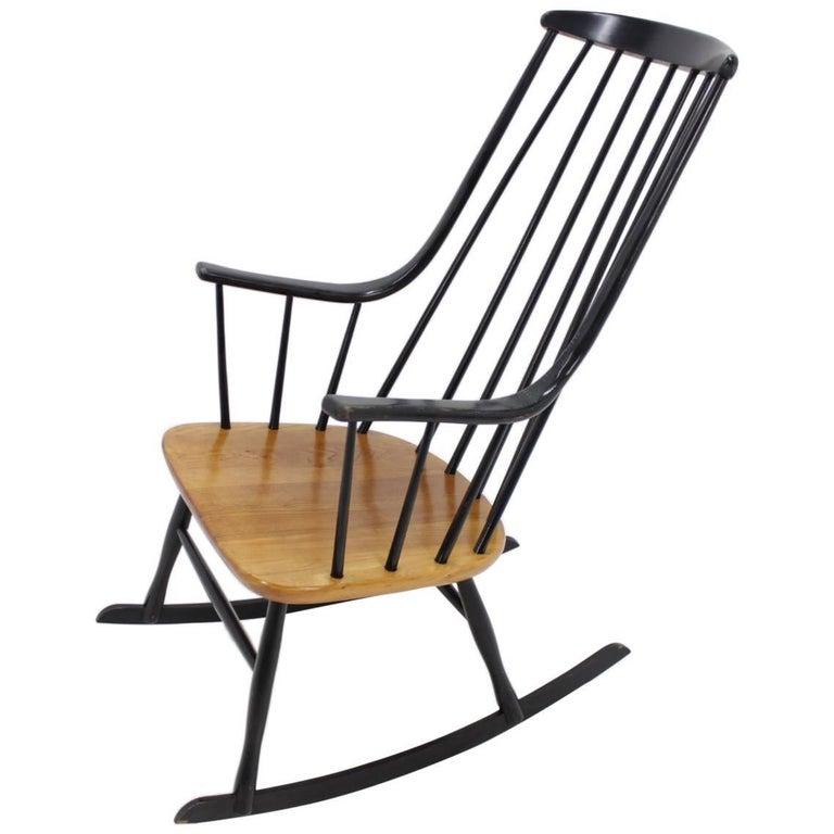 Scandinavian Midcentury Rocking Chair Grandessa by Lena Larsson, Sweden, 1958