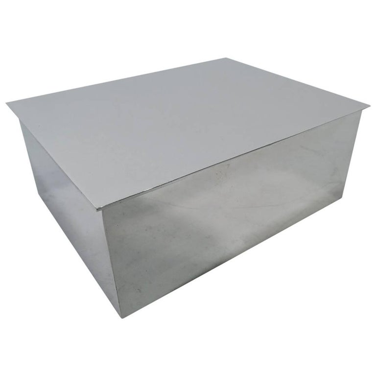 Tiffany American Modern Sterling Silver Desk Box