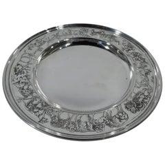 Antique Kerr Edwardian Sterling Silver Noah's Ark Plate