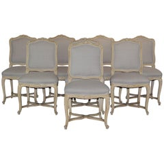 Set of Louis XV Style Dining Chairs