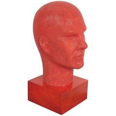 Serge de Troyer Shagreen Head Sculpture