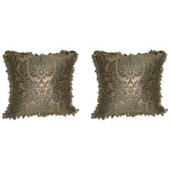 Pair of Fortuny Cushions with Fringe