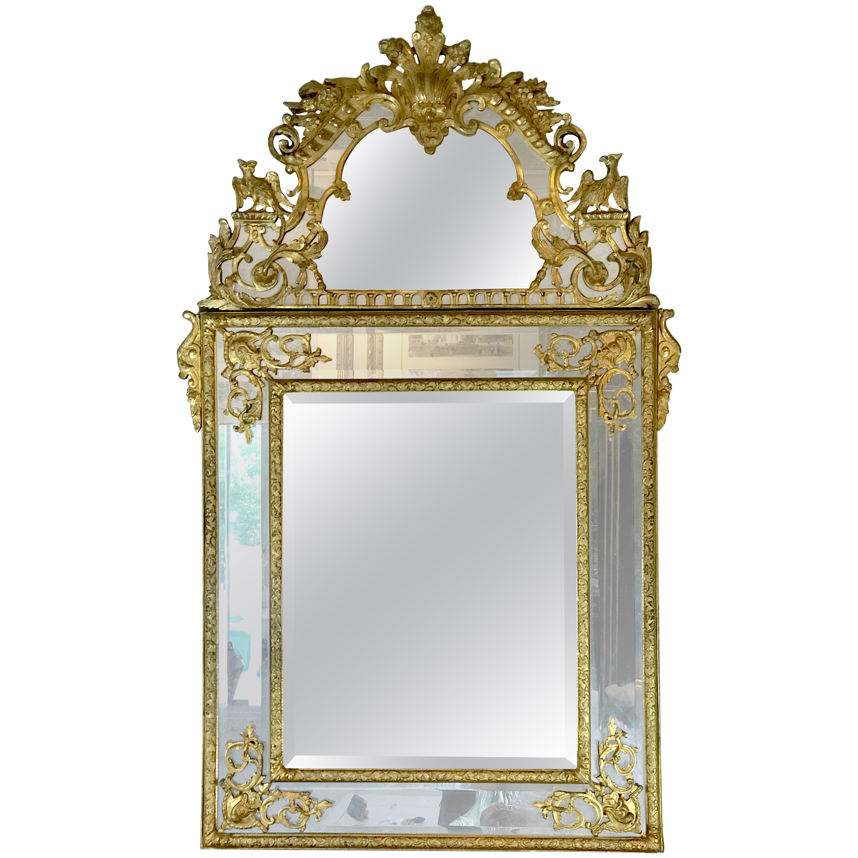 19th Century French Regence Style Giltwood Mirror