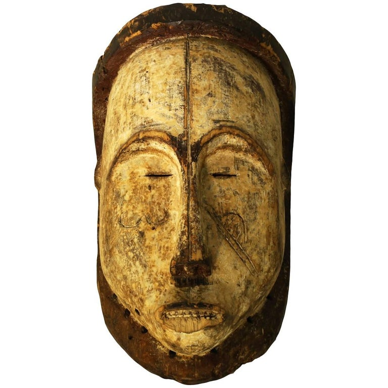 Ritual Fang Mask from Gabon, circa 1950s For Sale