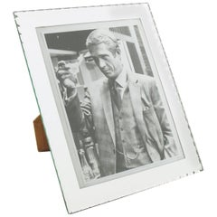 1940s French Mirrored Glass Picture Photo Frame