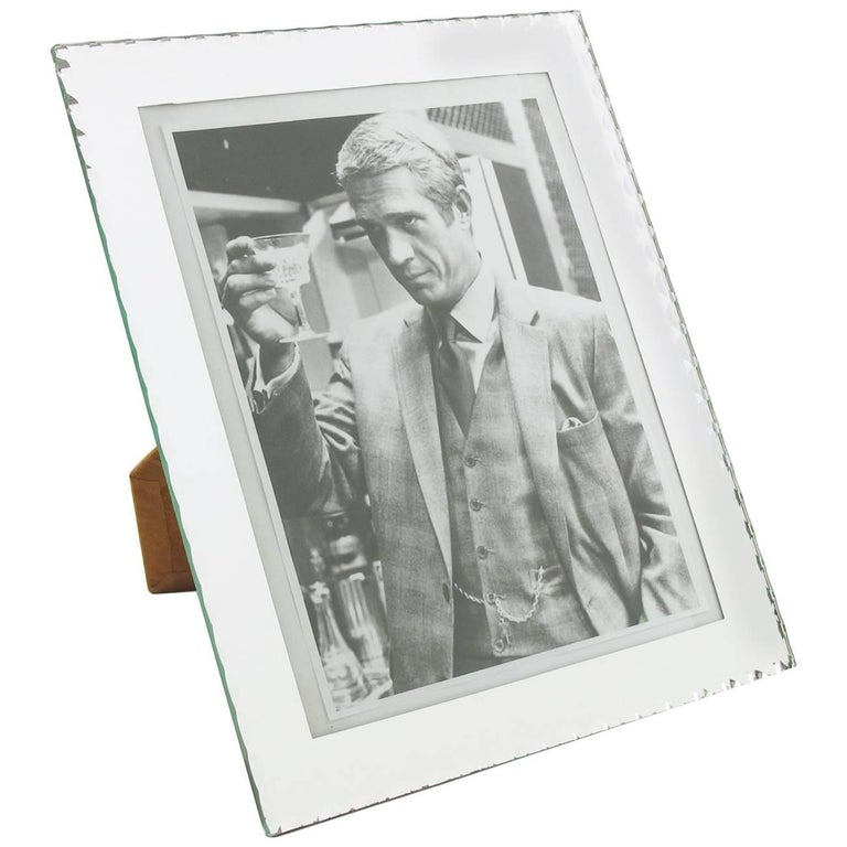 1940s French Mirrored Glass Picture Photo Frame For Sale at 1stdibs