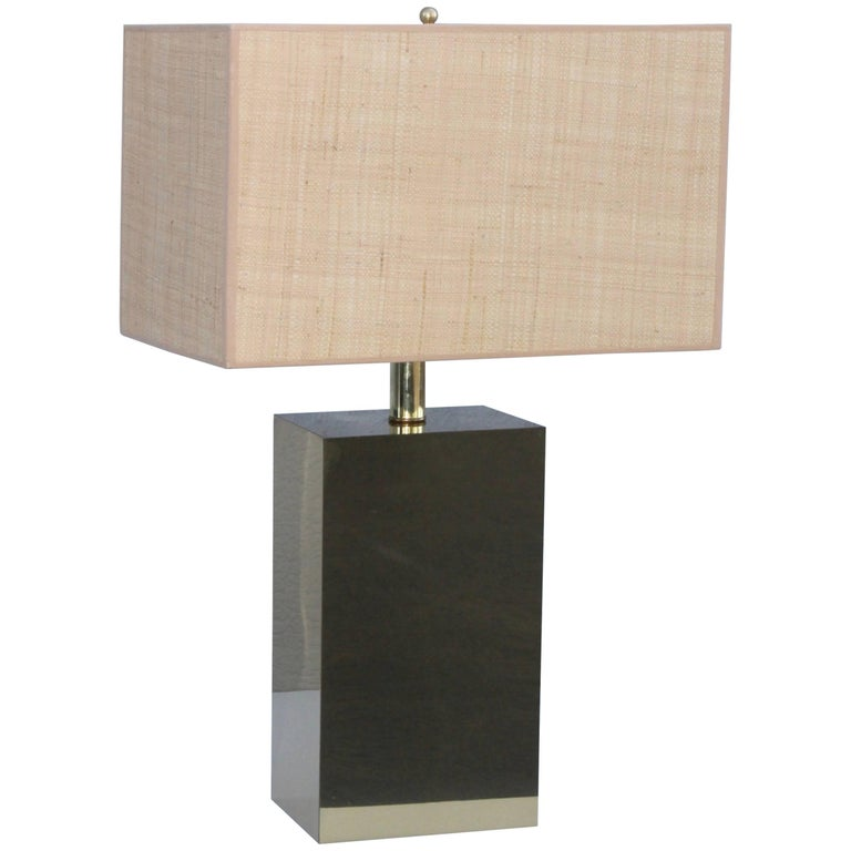 George Kovacs Modernist Brass Table Lamp