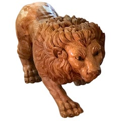 North Carolina Carved Pine Carousel Style Lion