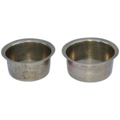 1940s English Brass Hammered Bowls
