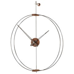 Mini Barcelona Clock, Walnut