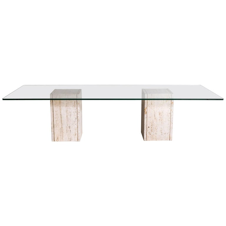 Roger Vanhevel dining table, 1970s, offered by Castorina & Co.