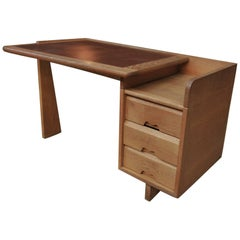 "Solid Oak Etudiant Desk by Guillerme & Chambron for ""Votre Maison"", 1960s"