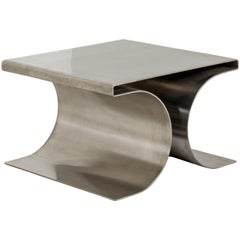 Michel Boyer, Metal Coffee Table, Model X, Ugine-Guegnon, circa 1968, Paris