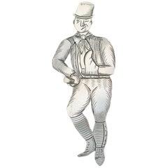 Edwardian Novelty Silver Figural Bookmark Charles Dickens 'Sam Weller'