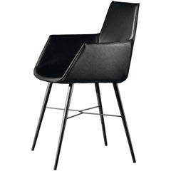 Seltz CB Armchair in Black Leather by Acerbis Design