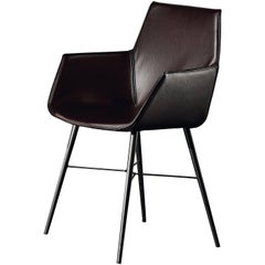 Seltz CB Armchair in Brown Leather by Acerbis Design