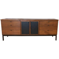 Milo Baughman for Directional Nine-Drawer Walnut Dresser