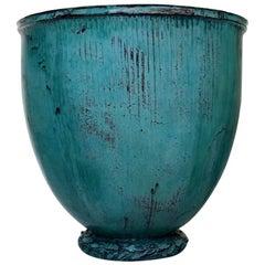 Monumental and Rare Kähler, HAK, Glazed Stoneware Vase by Svend Hammershoi