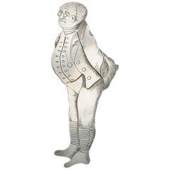 Edwardian Novelty Silver Figural Bookmark Charles Dickens 'Mr Pickwick'