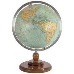 Gerard Barrère et Thomas, Globe Made circa 1950 on Mahogany Base