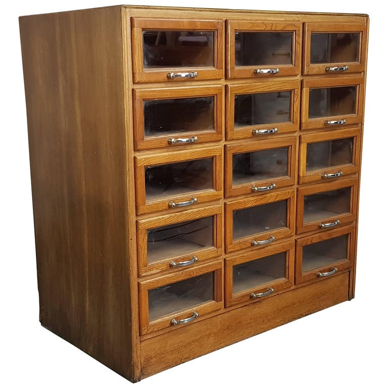 Vintage 15-Drawer Haberdashery Cabinet