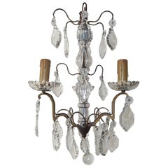 Petit Crystal Murano Glass Chandelier, circa 1900
