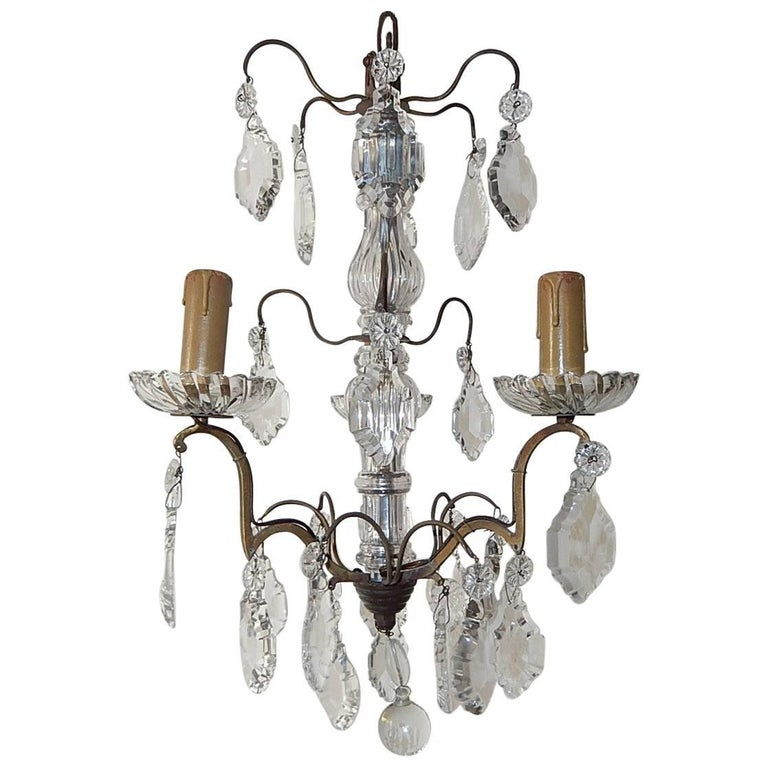 Petit Crystal Murano Glass Chandelier, circa 1900
