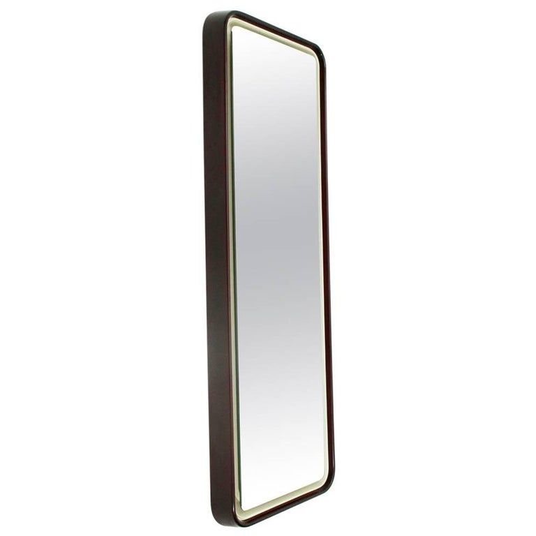 Italian Backlight Rectangular Mirror, 1970s