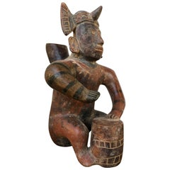 Large Seated Shaman Colima Figure 200 BC